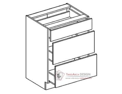 Dolní skříňka se zásuvkami D60S3 PREMIUM de LUX olše