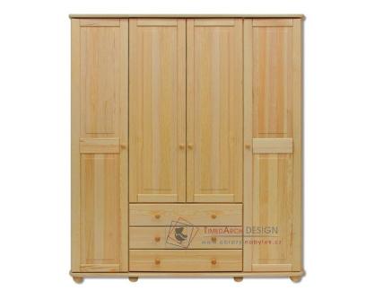 Šatní skříň 165cm 4-dveřová FS-129