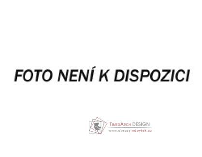EVITA, jídelní stůl, bílý lak / šedé sklo