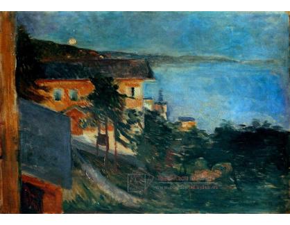 VEM13-139 Edvard Munch - Měsíční svit nad fjordem