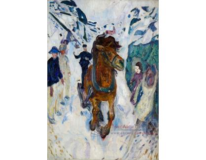 VEM13-66 Edvard Munch - Běžící koně