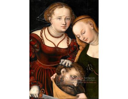VlCR-118 Lucas Cranach - Judita s hlavou Holoferna a služebná
