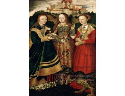 VlCR-123 Lucas Cranach - Svatá Barbara, Uršula a Margareta