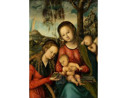 VlCR-134 Lucas Cranach - Madonna s dítětem a svatou Kateřinou