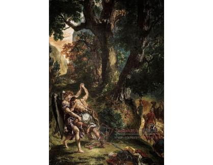 VEF 40 Eugene Ferdinand Victor Delacroix - Jakob zápasící s andělem