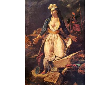 VEF 47 Eugene Ferdinand Victor Delacroix - Řecko na troskách Missolonghi
