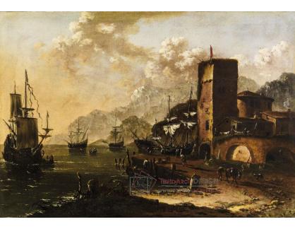 DDSO-1704 Johann Anton Eismann - Středomořský přístav s loděmi
