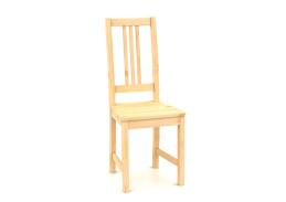 B164 ZINA, jídelní židle celodřevěná, borovicový masiv