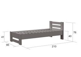 L810, postel 90×200cm, borovice natural