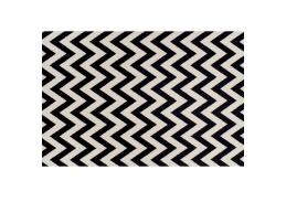 ADISA, koberec 67x120cm, slonová kost / tmavě šedá