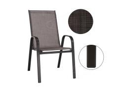 ALDERA, židle stohovatelná, hnědá / látka hnědý melír