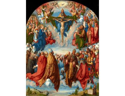 VR12-27 Albrecht Dürer - Klanění nejsvětější trojici