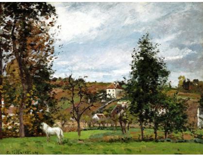 VCP-345 Camille Pissarro - Krajina s bílým konem v Hermitage