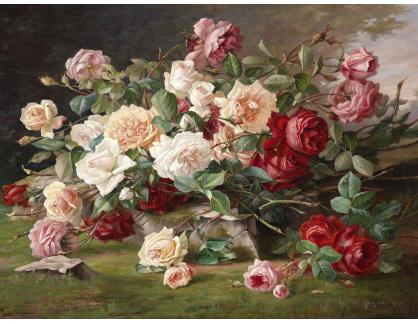 Slavné obrazy XII-102 Neznámý autor - Květinové zátiší
