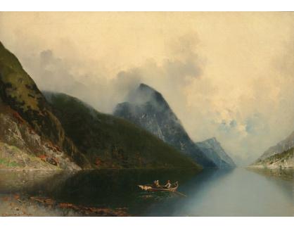 Slavné obrazy XVI-206 Anton Rasmussen - Fjordy