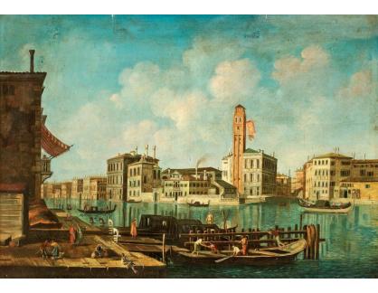Slavné obrazy XVI-220 Canaletto - Motiv z Benátek