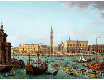 Slavné obrazy XVI-230 Antonio Joli - Shromáždění u nunciuse Stoppaniho 17.dubna 1741
