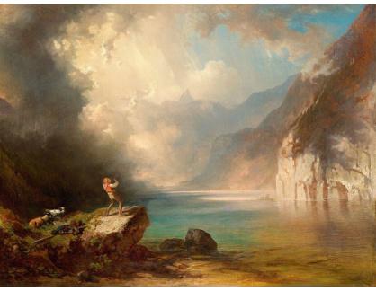 Slavné obrazy XVI-383 Carl Schweninger - Ozvěna na jezeře