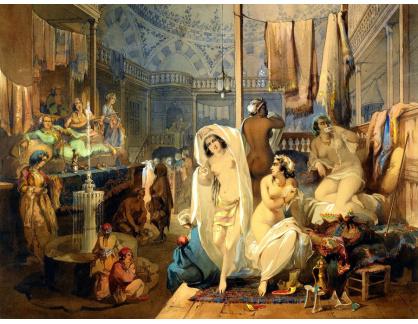 Slavné obrazy XVI-433 Amadeo Preziosi - V Hammamu