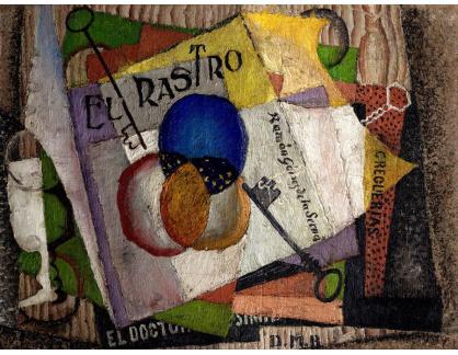 Slavné obrazy XVI-475 Diego Rivera - El Rastro
