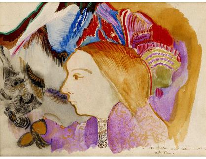 KO III-317 Odilon Redon - Mladá dívka s květinami
