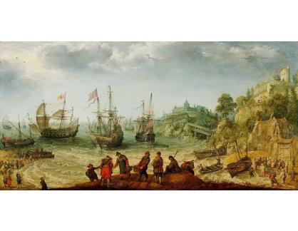 DDSO-2426 Adam Willaerts - Lodě u skalnatého pobřeží