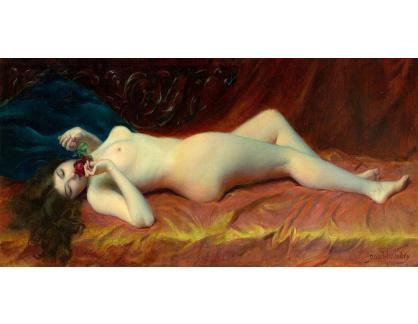 DDSO-2494 Paul Baudry - Odpočívající nahá žena s růží