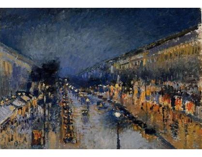 VCP-224 Camille Pissarro - Boulevard Montmartre v noci