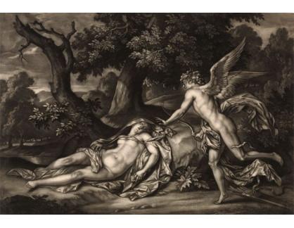 Slavné obrazy XI-113 Bernard Lens - Amor a Psyché