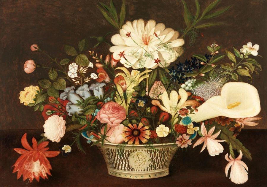 Slavné obrazy XIV-84 Rubens Peale - Květinové zátiší