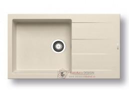 ATHLOS 1B 1D PLUS, pyragranitový dřez 86x50cm, mocha