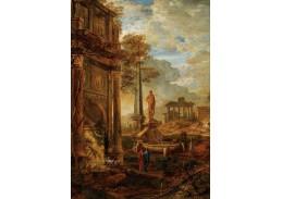 D-9209 Pierre Antoine Patel - Neoklasická krajina s postavami a starodávnými ruinami