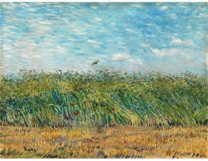 VR2-139 Vincent van Gogh - Pšeničné pole s mákem a skřivanem