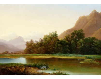 Slavné obrazy II-DDSO-419 Alexandre Calame - Krajina v Bouveret