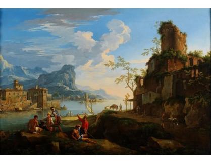 Slavné obrazy IX DDSO-717 Jacob de Heusch - Pohled na Sponda del Tevere