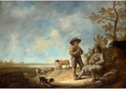 DDSO-1476 Aelbert Cuyp - Pastýři pískající na píšťalku
