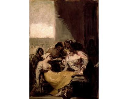 Slavné obrazy XVII-97 Francisco de Goya - Svatá Isabela Portugalska uzdravující nemocnou ženu