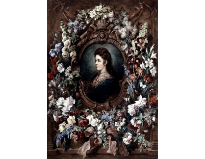 Slavné obrazy XVII-133 Franz Hanfstaengl - Portrét císařovny