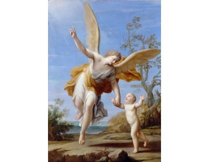 Krásné obrazy II-376 Marcantonio Franceschini - Anděl strážný