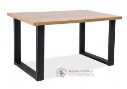 UMBERTO B, konferenční stolek, černá / masiv dub