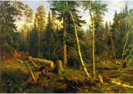 VR-323 Ivan Ivanovič Šiškin - Kácení lesa