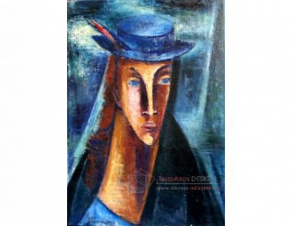 VN-267 Ernst Wolfhagen - Žena s modrým kloboukem