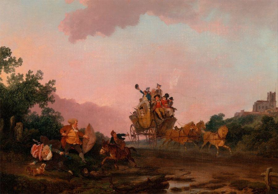 Slavné obrazy XIV-9 Philippe-Jacques de Loutherbourg - Na hodokvas
