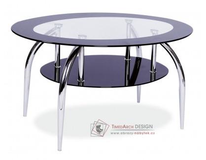 LOJA, konferenční stolek, chrom / sklo