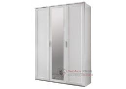MARGITA 565, šatní skříň 3-dveřová 135cm, bílá