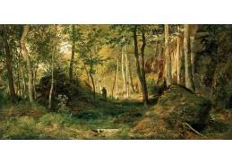 D-6387 Ivan Ivanovič Šiškin - Lesní krajina s lovcem