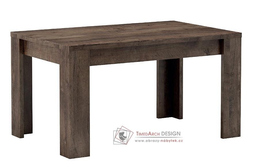 Jídelní stůl rozkládací 120x80 cm INDIANAPOLIS jasan tmavý