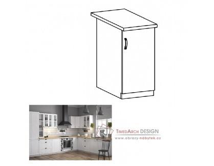 Dolní skříňka D40 PROVANCE bílá / borovice Andersen - pravá