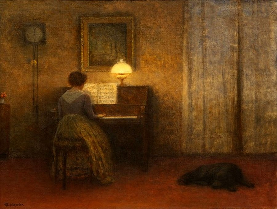 Jakub Schikaneder - Dáma u klavíru