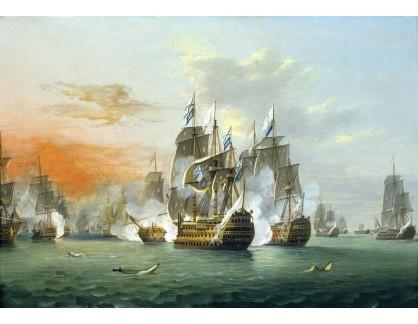 VL161 Thomas Luny - Bitva u Svatých 12.4.1782